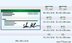 Cheque Icon by medical-icon-set