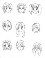 Anime faces by sayuri-hime-7