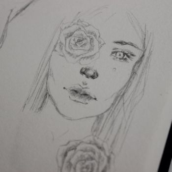 Face Sketch by ZelphieGray