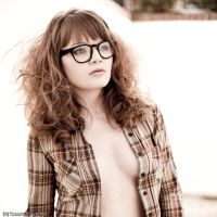 Black Framed Glasses Fashion I by Casslass