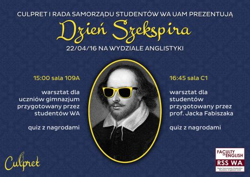 Shakespeare's Day at Faculty of English by Frodos