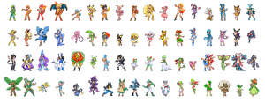 Pokemon Gijinka Sprites: Take 2 by pixie-rings