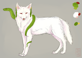 Wolf + Snake Adopt AUCTION by Vallume