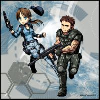chibi Valenfield BSAA by DarkLabrynth