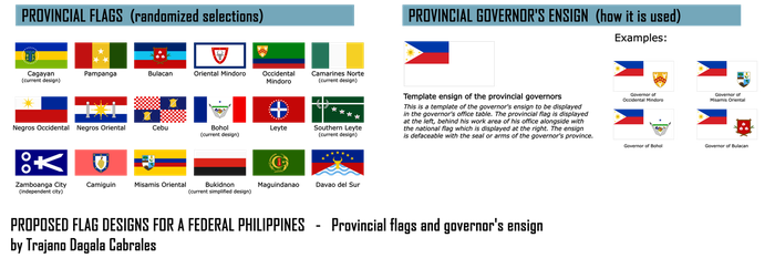 Provincial flag designs for a federal Philippines by TrajanoCabrales