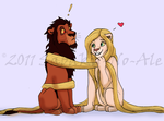 I got you tangled by The-PirateQueen
