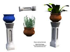 FREE Plants, Pots and Pillars by madetobeunique