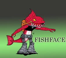 FISHFACE by JohnnyFive81