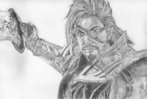 Xiahou Dun, Dynasty Warriors 7 by LittleDragonZ
