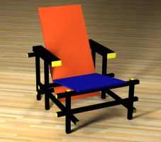 DE STIJL CHAIR by curseofthemoon