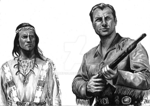 Winnetou and Old Shatterhand. by moepi92
