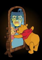 Winnie the Pooh's Mirror by andy-pants