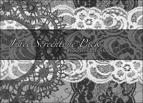 Lace Screentone Pack by Mysticalpchan