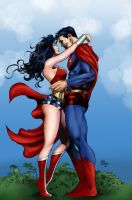 Wonder Woman and Superman by Mike deodato Jr. by Digraven