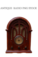 Antique  radio PNG STOCK by KarahRobinson-Art
