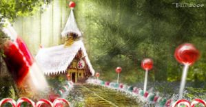 gingerbread house concept by artist Tom Kelly by TomKellyART