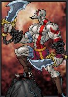 Kratos colored by Emerson-Fialho