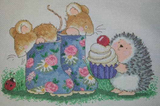 The Cherry on the Cake Cross Stitch by Tishounette