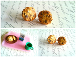Polymer Clay Chocolate Chip Cookie Earrings! by mattiemazingcharms