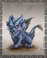 Monster Hunter baby Lunastra by HectorHerrera