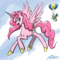 Pinkie Pie The Pegasus Unicorn by johnjoseco