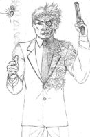 Two-Face Sketch by RedSpider2008