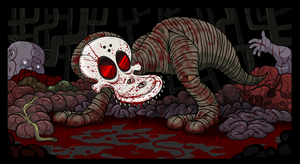 Chainsaw Kid gore by scythemantis