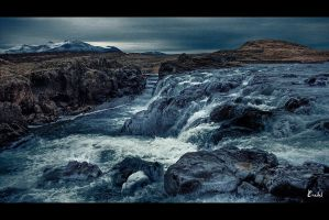 Iceland Waterfall by Eredel
