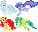 Spacey Pony Adoptables1 by Sakuyamon