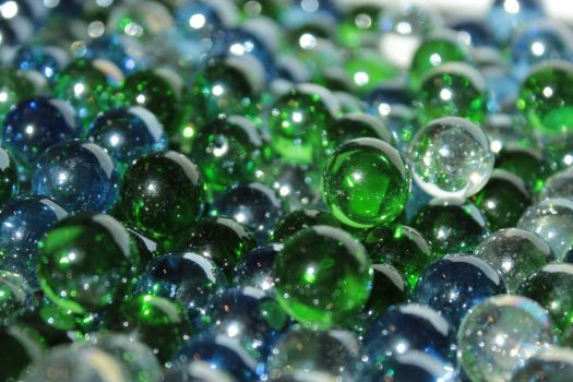 Glass Marbles by wuestenbrand
