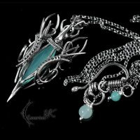 ZYTRHNIS - silver and blue chalcedony by LUNARIEEN