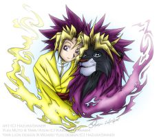 YGO: The Good Wiz and the Lion by HazuraSinner