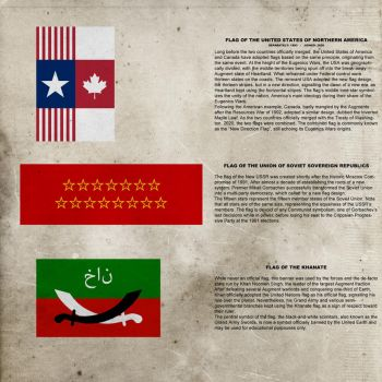 Eugenics Wars era flags by thefirstfleet