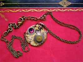 """""""Time Crystalizes"""" Necklace by thevampirepandora"""