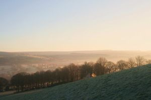 Mist topped hill by Raah-man