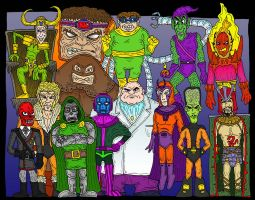 Marvel villains by Lordwormm
