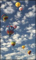 Balloons and Clouds by Toja7777777