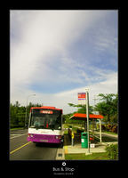 Bus and Stop by Eonity