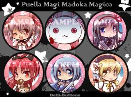Madoka Button set by jinyjin