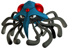 Tentacruel 3D Model Pokemon by bogeymankurt