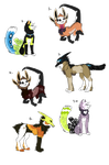Mixed Species Adoptables : OPEN by The-F0X