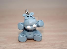 hippo keyring by elainewhy