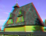 The Wooden Church 3D Anaglyph by yellowishhaze