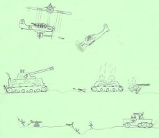 WWII battle draw by taupin121