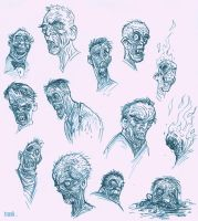 Zombified Zombies of the Zombpocalypse. by FlapJoy