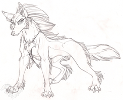 Feral Tala Sketch by StangWolf
