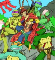 TMNT and Sonwukong, a crossover by FoxKids1302