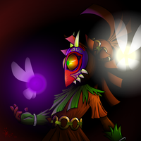 That Masked Imp - Skull Kid by Ayemae