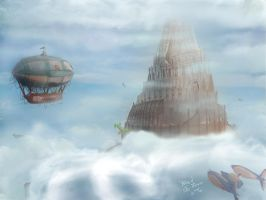 Airships En Route by SolutionNyne