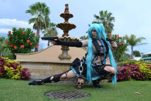 Z Hunter Hatsune Miku by Methvell